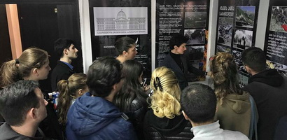 Students of University of Georgia at the Museum of Occupation